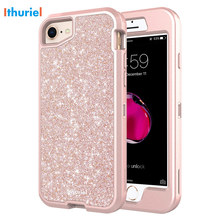 Ithuriel Case For Apple iPhone 6 6S 7 8 Cover 4.7-inch Luxury Bling Anti-Slip Shockproof Hard Protective Cases 8 Lovely girl new стоимость