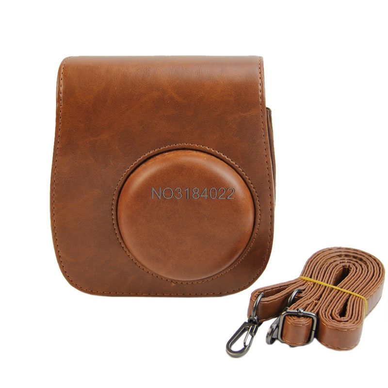 Leather Camera Shoulder Strap Bag Protect Case Pouch For Fujifilm Instax Mini 8 #4XFC# Drop shipping