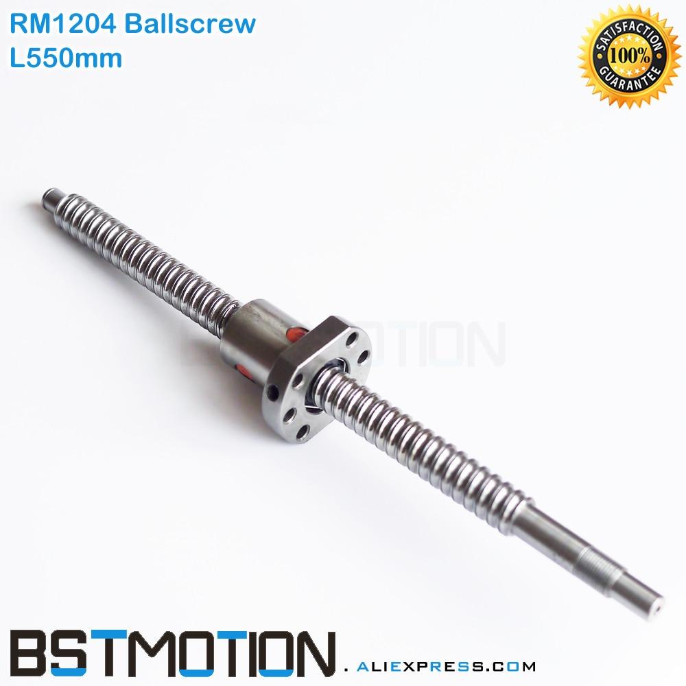 SFU1204 Ballscrew 550mm with 1204 ball nut for CNC X Y Z Axis