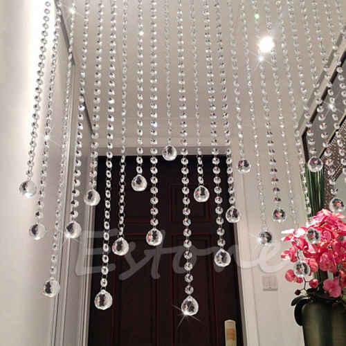 Lámpara de cristal transparente Feng Shui, Prisma de bola de arco iris, Sun Catcher, decoración de boda 20mm