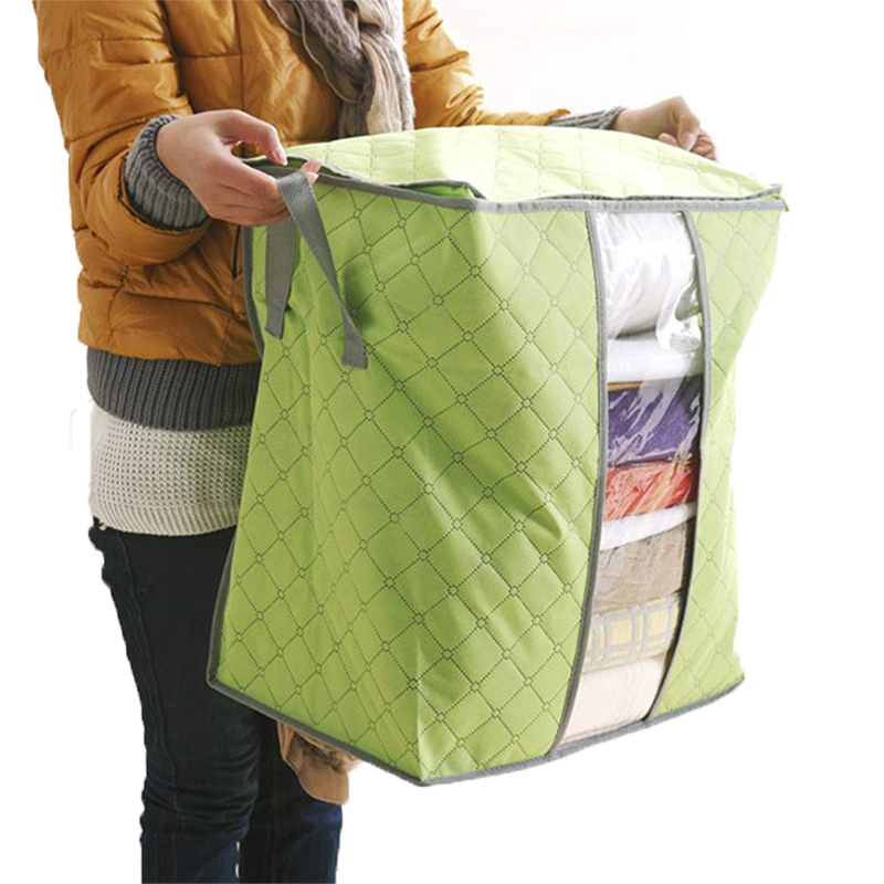 Bedding Storage Bag Students Dormitory Woven Bamboo Storage Box 48*28*50cm Quilts Environmental Dust and Moisture