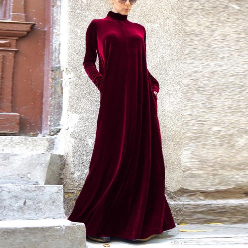 2016-New-Sexy-Women-Celeb-Turtle-Neck-Velvet-Dresses-Oversize-Winter-Party-Cocktail-Maxi-Long-Dress