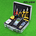KELUSHI 29 In 1 FTTH Fiber Optic Tool Kit with FC-6S Cleaver Optical Power Meter 10mW Visual Fault Locator Checker Stripper tool