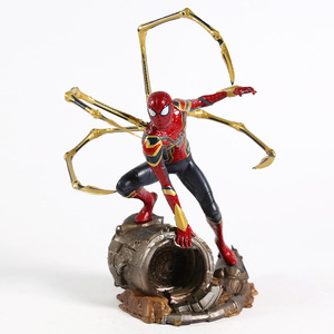 Image 3 - Iron centre Iron Spider Spiderman scala 1/10 PVC Figure Toy Model da collezione