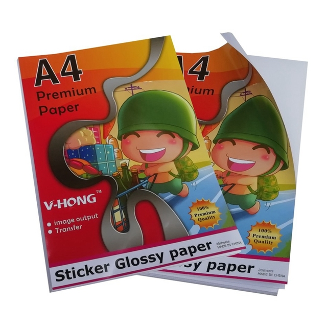 135g A4 Size Inkjet Printer Glossy Can Sticker Paper Self Adhesive