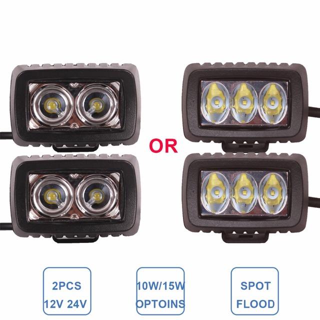Offroad 10 W 15 W Luz de Trabalho LED de Condução Nevoeiro Farol 12 V 24 V Bicicleta Da Motocicleta ATV SUV Barco Iate 4X4 4WD Truck Car Auto lâmpada