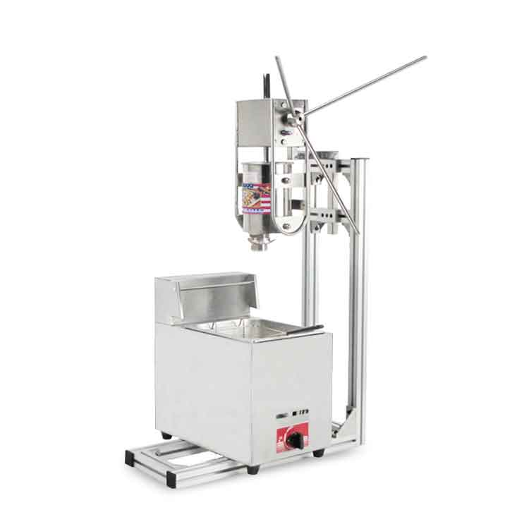 Commercial Churro Machine Including Single Cylinder Gas Fryer + Churros Cream Applier Jam Filler