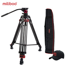 miliboo MTT603A Aluminium Portable Camera Tripod for Professional Camcorder/Video/DSLR Stand 75mm Bowl Size Video Tripod