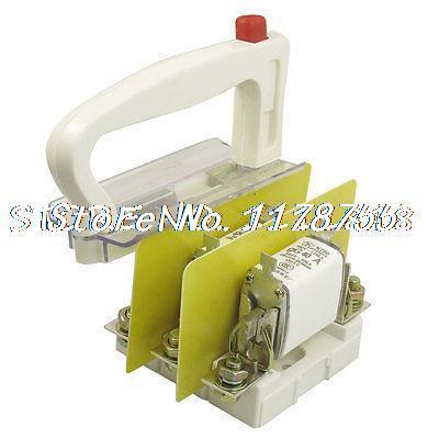 500V/120KA 660V/50KA NT00 gG 40 Amp White Puller Triple Ceramic Fuse Link w Base 500v 120ka 660v 50ka low voltage blade contact ceramic fuse link nt2 400a