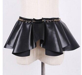 НОВАЯ мода высокое качество Роскошный Дизайн заклепки, кожаные пояса женщин пояс пояс талии юбки женский ремень Аксессуары