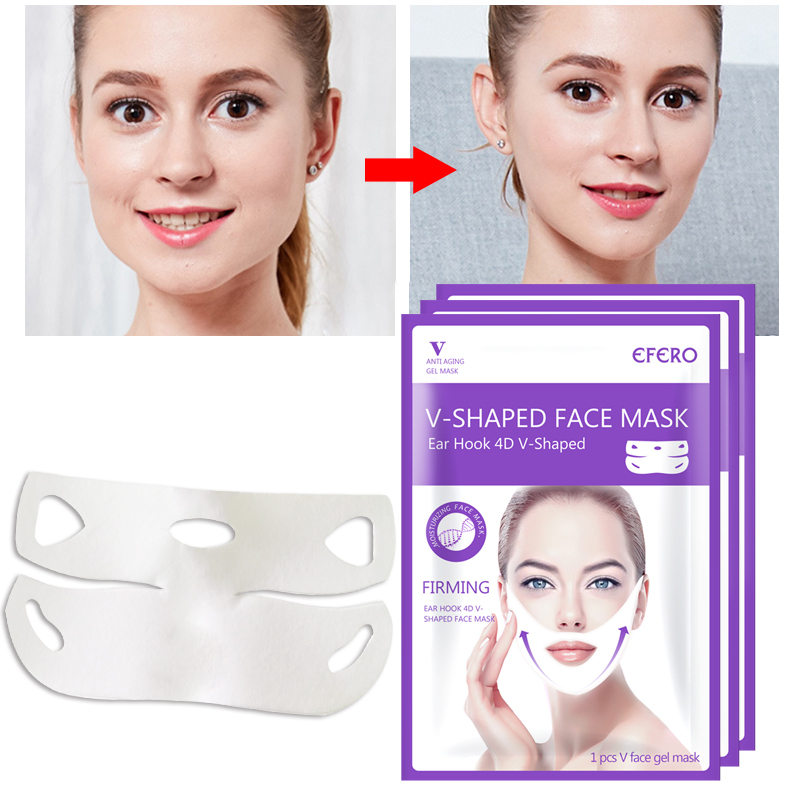EFERO 3D Face Lift Tools Slimming Skin Care Thin Face Mask Facial Treatment Double Chin Beauty Health Women Anti Cellulite TSLM1