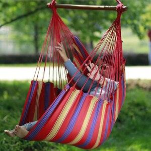 Image 2 - Leinwand hängematte tragbare outdoor cradle stuhl bequeme innen haushalt hängesessel schlafsaal freizeit hängesessel w4