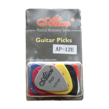Professional Guitar Picks Guitar Plectrum Alice AP-12E 12pcs 0.58mm 0.71mm 0.81mm  Smooth ABS Guitar Parts & Accessories