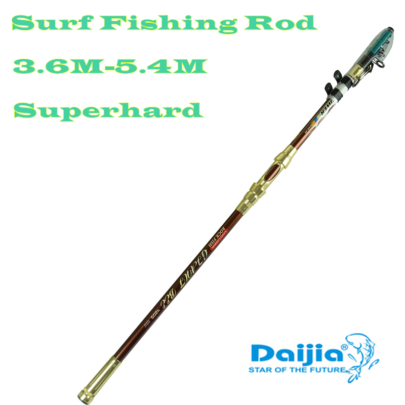 DAIJIA Genuine lightweight 3.6 / 3.9 / 4.2 / 4.5 / 5.4 m distance throwing rod sea pole superhard surf fishing rod daijia 2 4 m 2 7 m 3 m 3 6 meters of high carbon distance throwing rod fishing rod lure rod superhard telescopic fishing rod