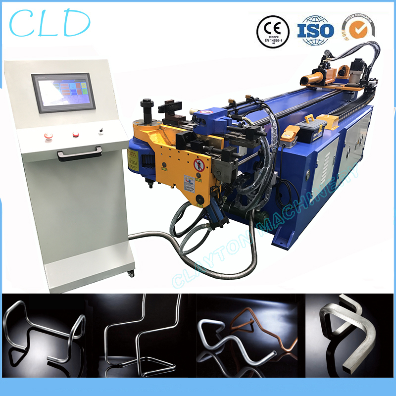 cnc pipe bending machine, DW38CNC full automatic aluminum copper hydraulic bender,38mmX2mm