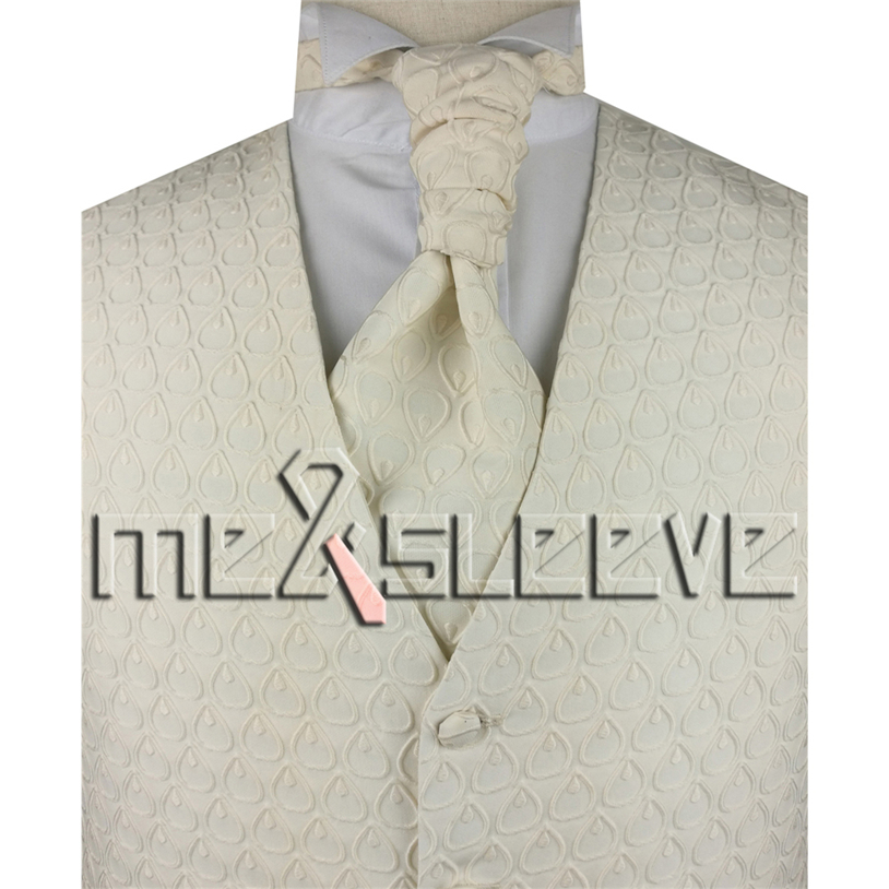 Wholesale Free Shipping Single Breast Men Vest Waistcoat Ivory Fish Delectable Mens Vest Pattern Free