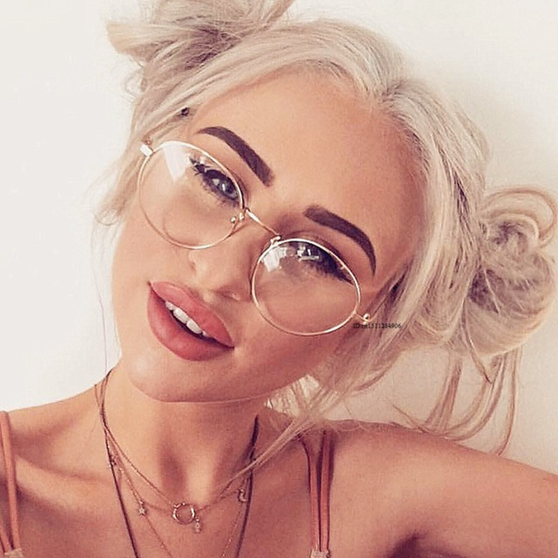 Super Light-weight Retro Glasses Frame Full Rim Gold Eyeglass Frame Vintage Spectacles Round Glasses Unisex oculos de grau