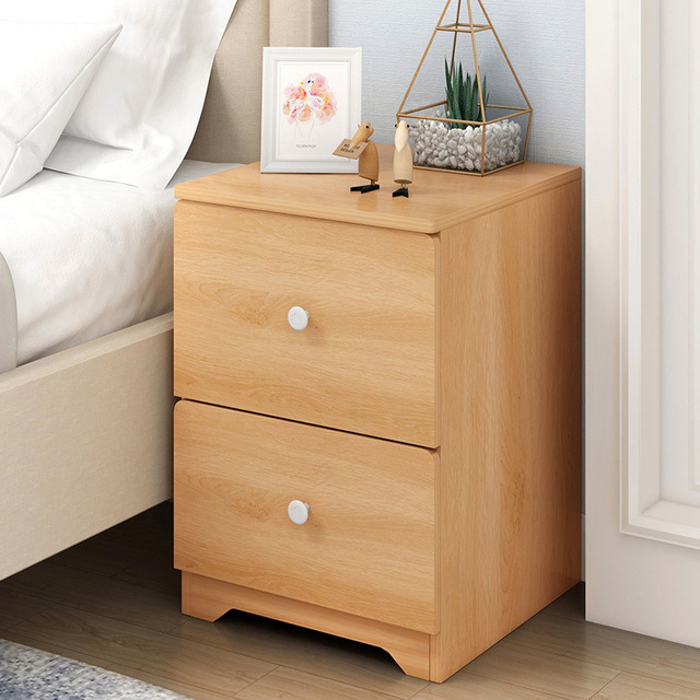 High Quality Wooden Nightstand Storage Cabinet With Drawer Organizer Detachable Embly Bedside Table Bedroom Fashion Furniture