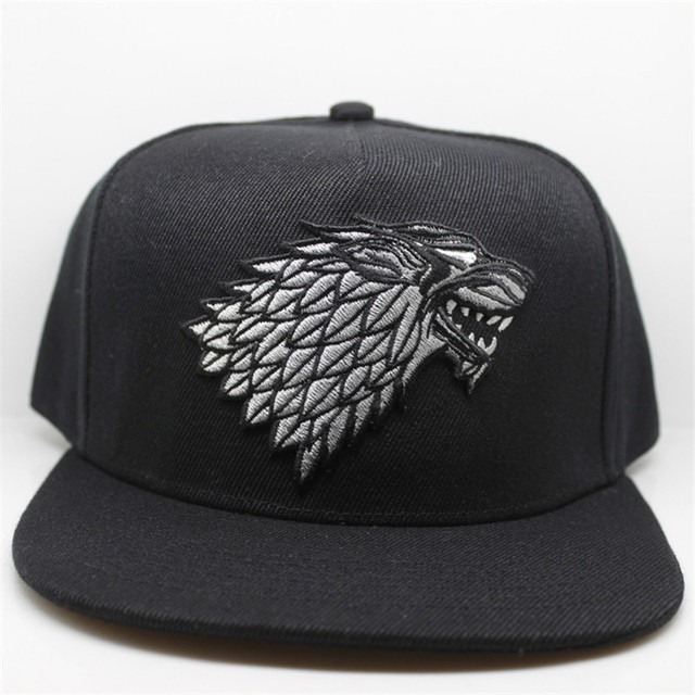 Wolf Hat Snapback Baseball Caps A Song Of Lce And Fire Winter Is Coming Hat Game Of Thrones House Stark  Winterfell Embroid Hats