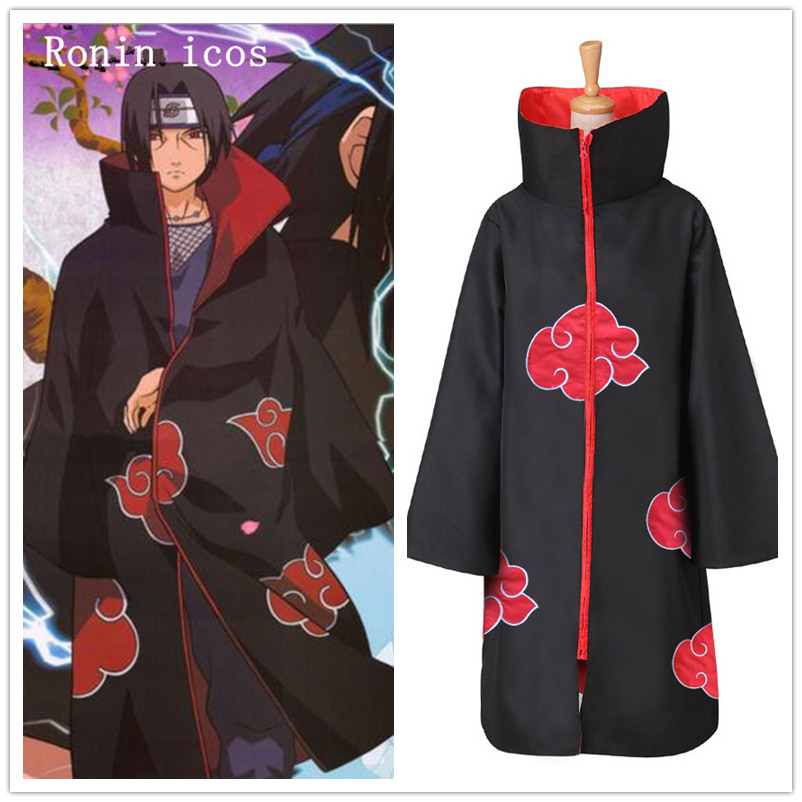Naruto Cosplay Costume Anime Akatsuki Uchiha Itachi Shuriken Forehead Headband Halloween Party Cosplay Accessories Suit
