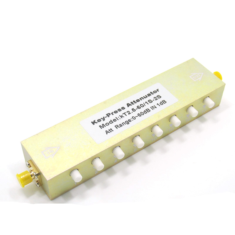 Sma N type RF coaxial button adjustable attenuator 0 90db 60 30 button adjustable step attenuator