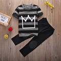 summer Baby Toddler Kids Cool Boys Clothes Striped Short Sleeve T-Shirt+Long Pants 2PCS Outfits Tracksuit set 2-8Y