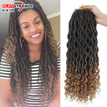 Silky Strands 2X Bohemian Mambo Goddess Locs Crochet Hair Extensions Crochet Braids Ombre Kanekalon Braiding Hair Synthetic Bulk(China)