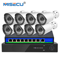 Latest 4K H.265 4.0MP 48V 8ch POE Surveillance System NVR+POE switch+PoE Camera HI3516D OV4689 P2P HDMI Metal 36pc IR PC&Phone