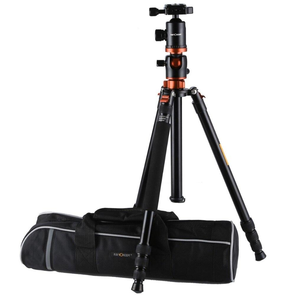 K & F CONCEPT TM2534T Professionnel 4 section Alliage Trépied Avec Rotule Caméra Portable Monopode Trépied Pour Numérique/ vidéo Caméra
