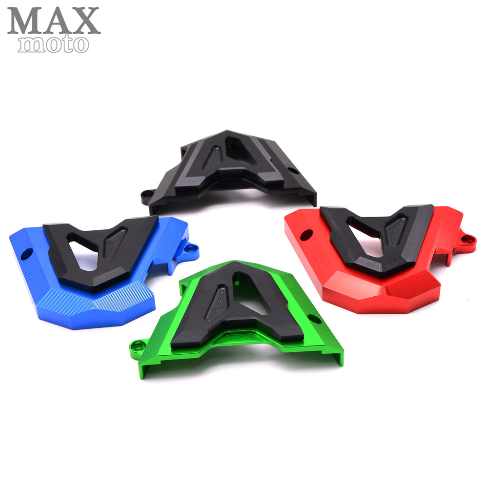 ФОТО CNC Aluminum Motorcycle Accessories Left Engine Front Sprocket Chain Guard Protection Cover For Kawasaki z250 z 250