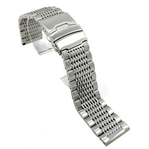 Image 2 - BEAFIRY 18mm 20mm 22mm 24mm נירוסטה שחור כסף אבזם רצועת השעון באיכות גבוהה שעוני יד רצועת קלאסי עלה זהב כחול
