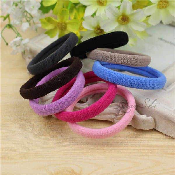 Diameter 4cm Headwear elastic Hair bands Accessories Rubber on piece Rope Elastic Hair Bands For Girls Kids Children cheap CJ001