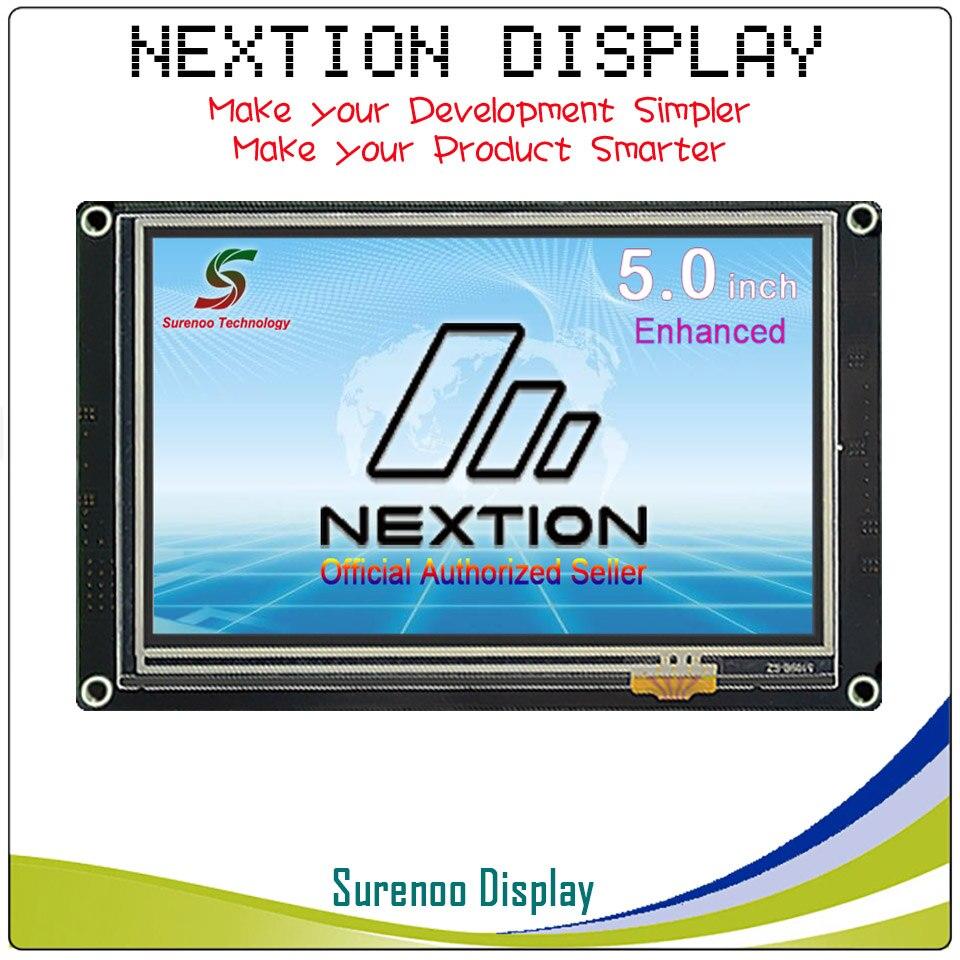 5.0 Nextion Amélioré IHM Intelligente Intelligente USART Série UART Tactile TFT LCD Panneau D'affichage Du Module pour Arduino Kits Framboise pi