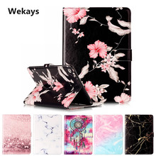 Wekays Tablet Case For Apple Ipad Air 2 Cover Flip Leather PU Stand Kickstand Case Cartoon Windbell Funfas for iPad 6 /Air 2 geometric circle diagram tablet case for apple ipad air 1 case stand pu leather ebook cover for apple ipad 5 case