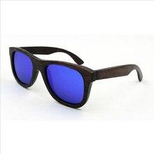 Hot Men/Women fashion Polarized Handmade Bamboo Sunglasses Extremely Light Eyewear Retro Colorful Reflective lens Eyeglasses