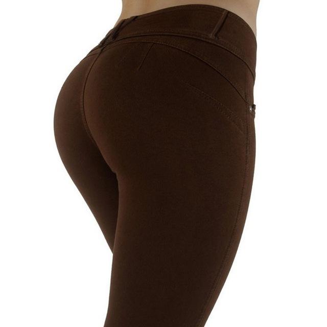 High Waist Elastic Denim Women Leggings