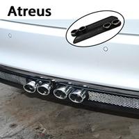 Atreus2X Car styling 3D Cool carbon Exhaust Stickers For Hyundai Solaris Tucson 2016 Volvo XC90 XC60 Skoda octavia Seat Leon