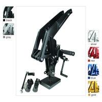 FX CNC Aluminum Adjustable Motorcycle Rearsets Rear Set Foot Pegs Pedal Footrest For KAWASAKI ER6F ER 6N Ninja 650R 2012 2014