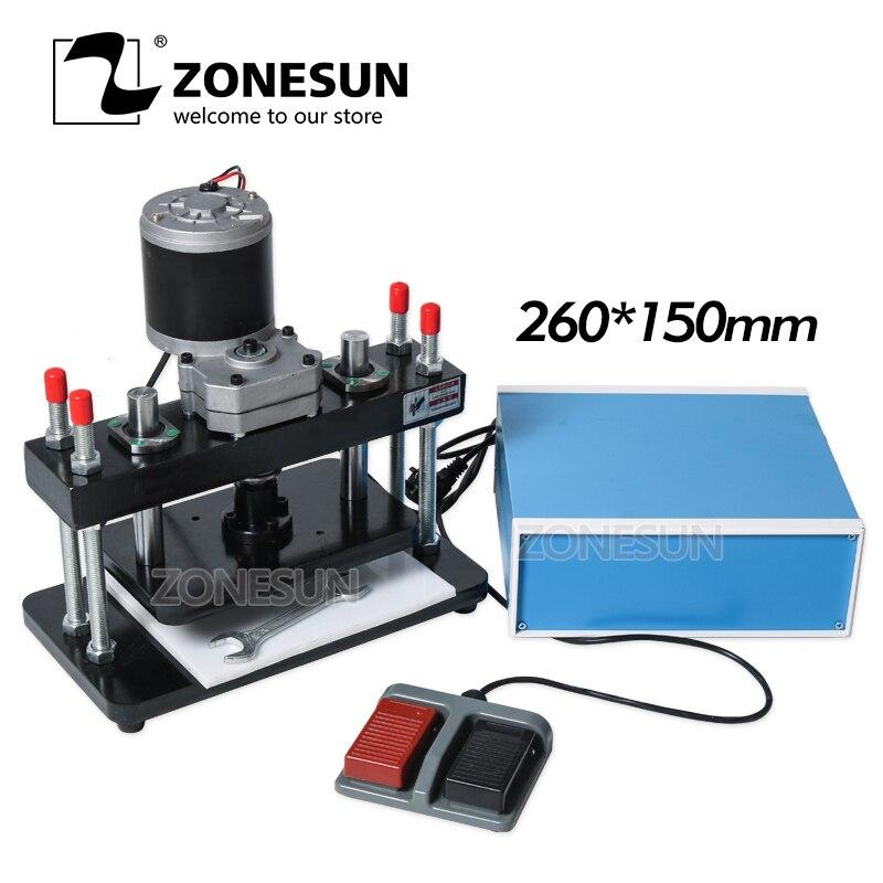 ZONESUN 26x15cm électrique en cuir Machine de découpe Photo papier moule Cutter outil de découpe pour Clicker cuir découpe Die