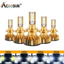 AcooSun светодиодный H4 H7 светодиодный мини Canbus для автомобильных фар комплект светодиодный 3000K 4300K 6500K 8000K 72W фары для 10000LM H1 H11 9005 HB3 9006 HB4 H8 H9