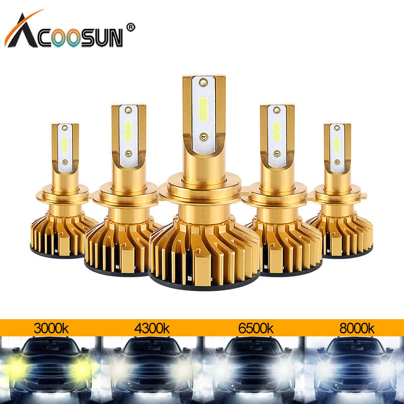 AcooSun LED H4 H7 LED Mini Canbus Car Headlight Bulbs Kit LED 3000K 4300K 6500K 8000K 72W 10000LM H1 H11 9005 HB3 9006 HB4 H8 H9