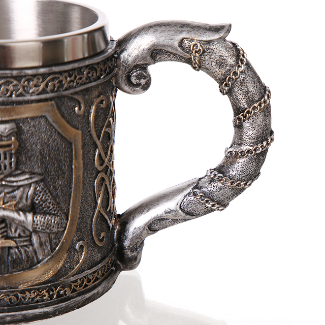 3D Viking Skull Coffee Beer Mug Tankard Personalized Original Skull Mug for Home Bar Beer Wine Drink Gift for Men Coffee Mug 4