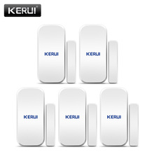 KERUI 5 sztuk 433 MHz bezprzewodowe czujniki drzwi czujnik otwarcia drzwi czujnik na okno Gap detektor dla System alarmowy w domu