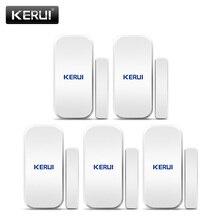 KERUI 5pcs 433 MHz เซนเซอร์ประตูประตูเปิดเซ็นเซอร์หน้าต่าง Gap สำหรับ Home ALARM System