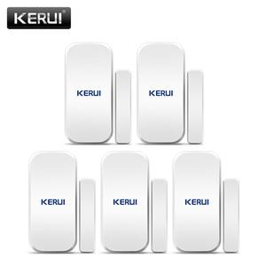 Image 1 - KERUI 5pcs 433 MHz Wireless Door Sensors Door Opening Sensor Window Sensor Gap Detector for Home Alarm System