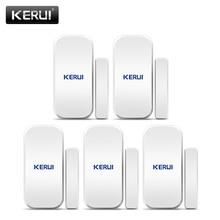 KERUI 5pcs 433 MHz Wireless Sensori di Porta di Apertura della Porta Sensore Finestra Del Sensore Gap Rivelatore per Sistema di Allarme Domestico