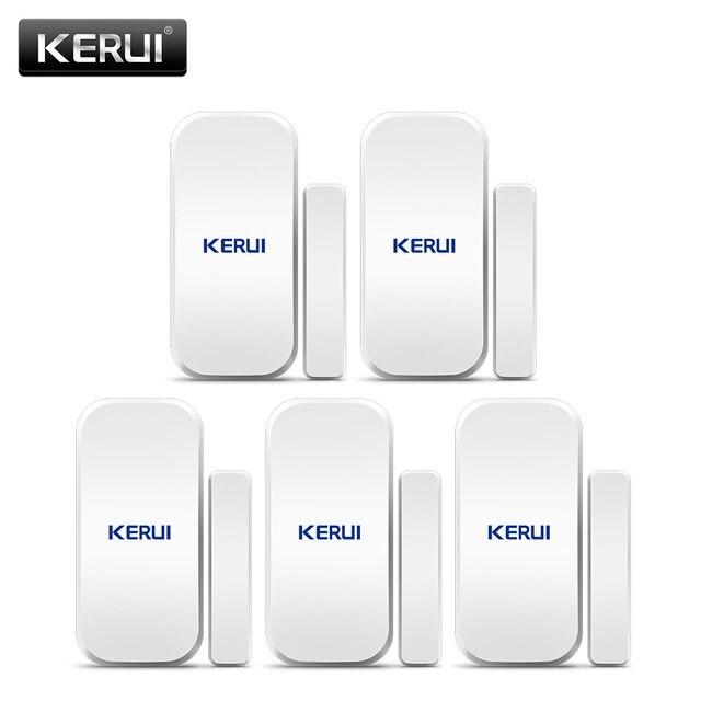 Kerui 5 個 433 433mhz のワイヤレスドアセンサードア開口部センサー窓センサーギャップ検出器の警報システム