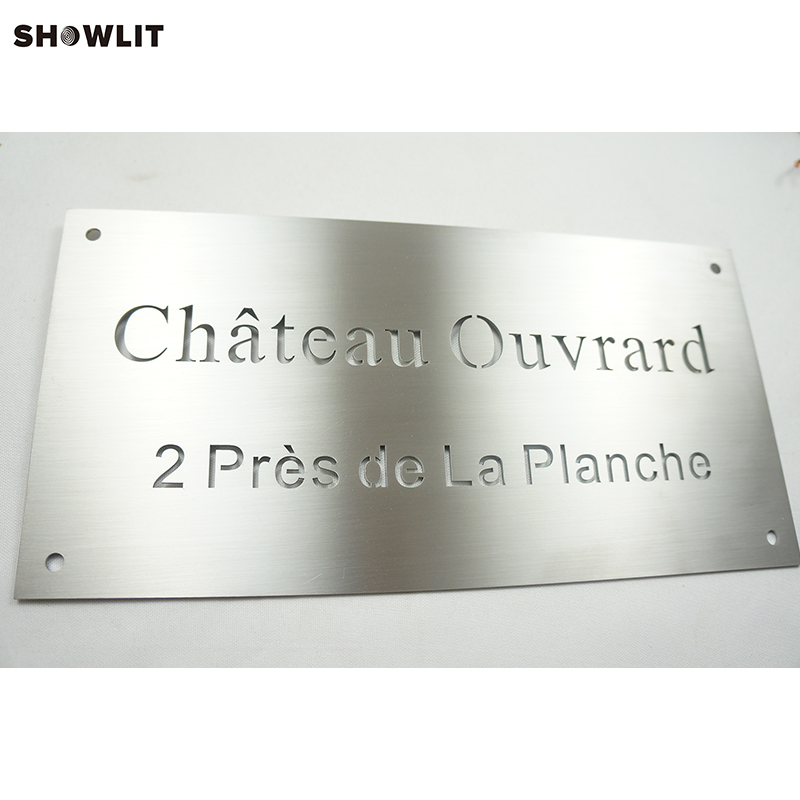 Custom Stainless Steel Small Office Name Plates