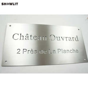 Custom Stainless Steel Small Office Name Plates - DISCOUNT ITEM  0% OFF All Category