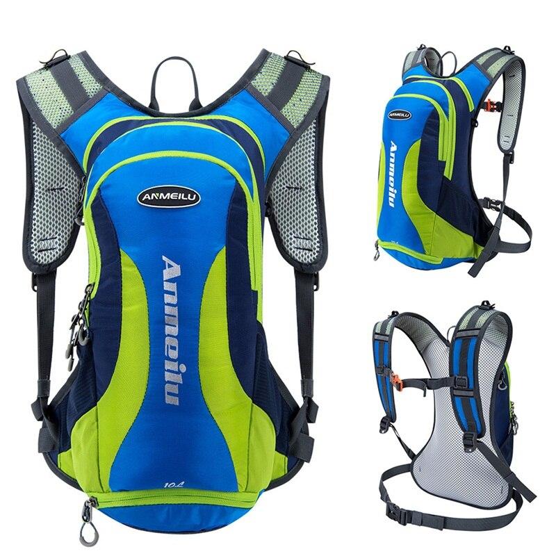 ANMEILU 10L unisexe vélo sac à dos étanche Sports de plein air sac à dos escalade Trival sac à dos avec housse de pluie + casque Net couverture